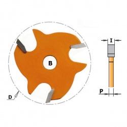 Griovelio frezavimo diskas 4 mm