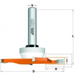 CMT Diskinė griovelių freza 6,35/92 mm, su guoliu